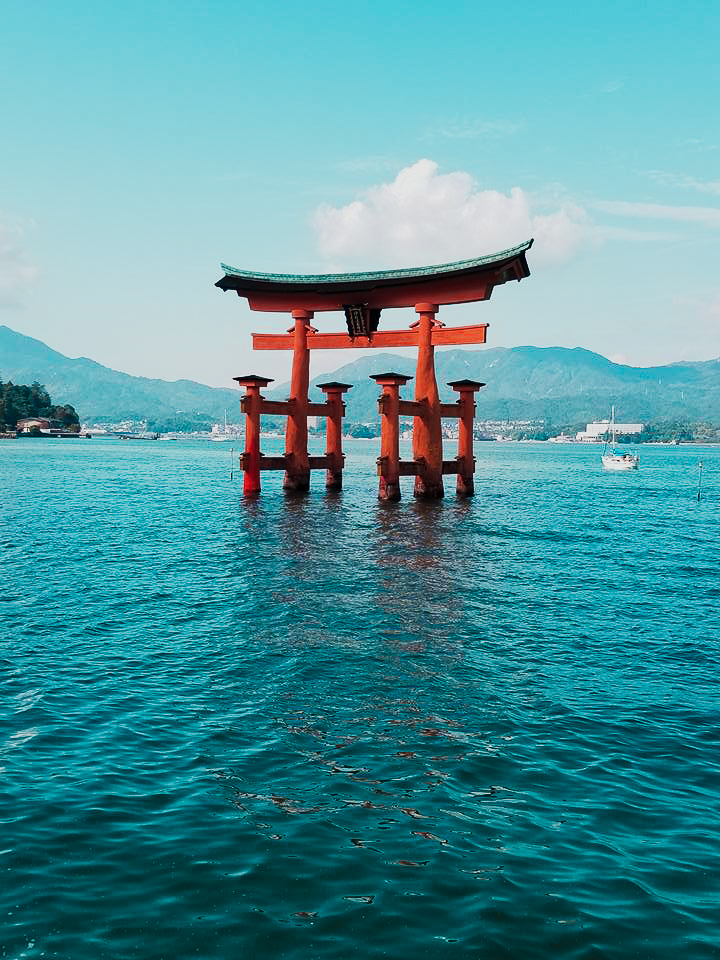 The famous floating otorii gate